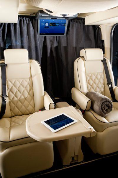 luxury chauffeur interior
