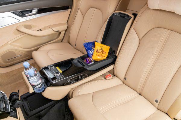 NTD Audi A8 snacks